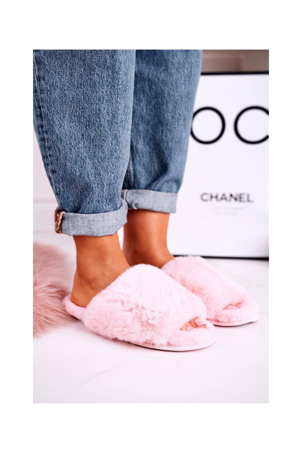 Dámske šľapky farba ružová kód obuvi 20PA36-3362 Pink