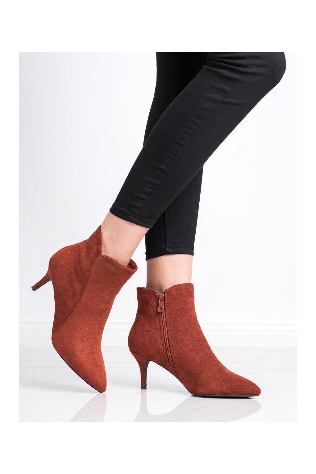 Hnedé dámske topánky Kylie kod K1906806TEJA