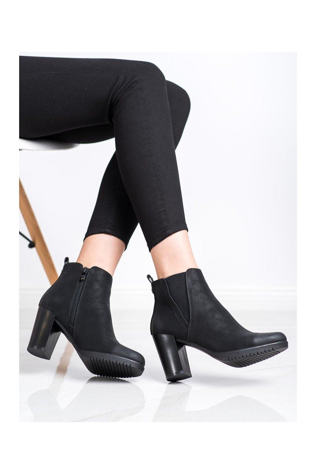 Čierne dámske topánky Sergio leone kod BT311B