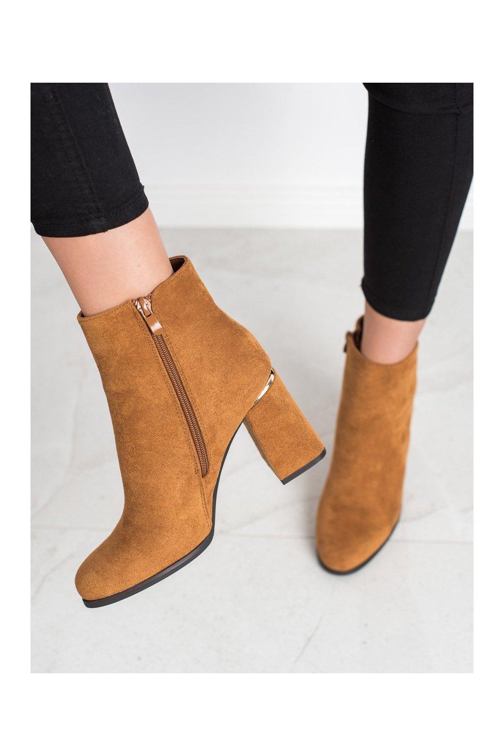 Hnedé dámske topánky Shelovet kod 6053C