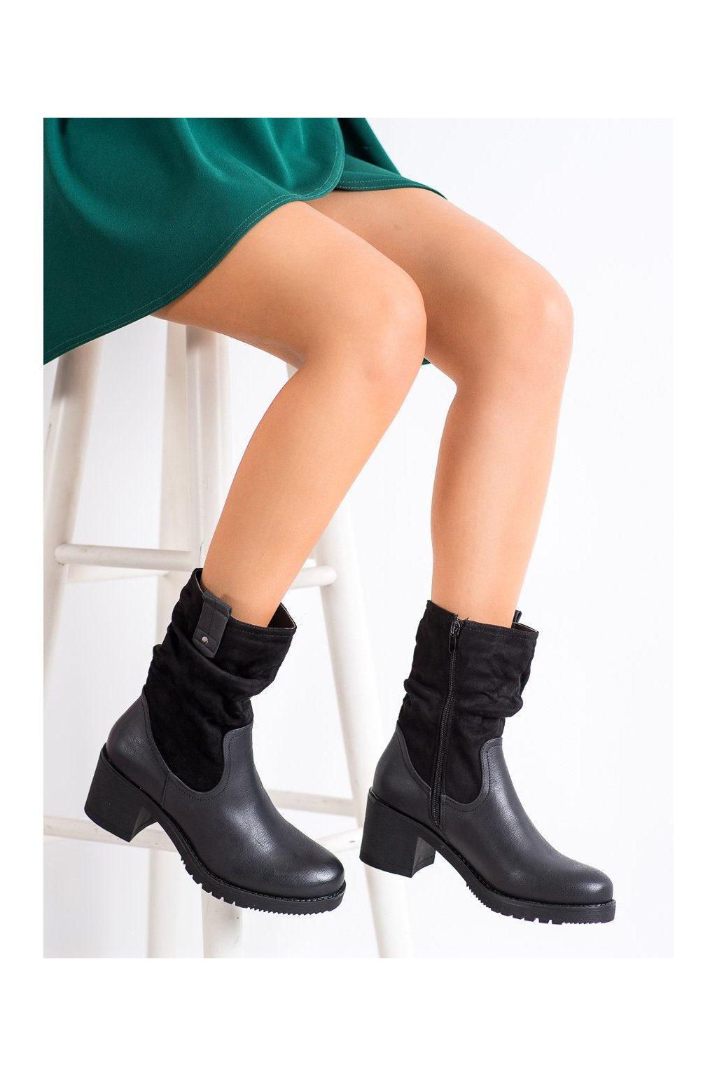 Čierne dámske topánky Flyfor kod J19-51B