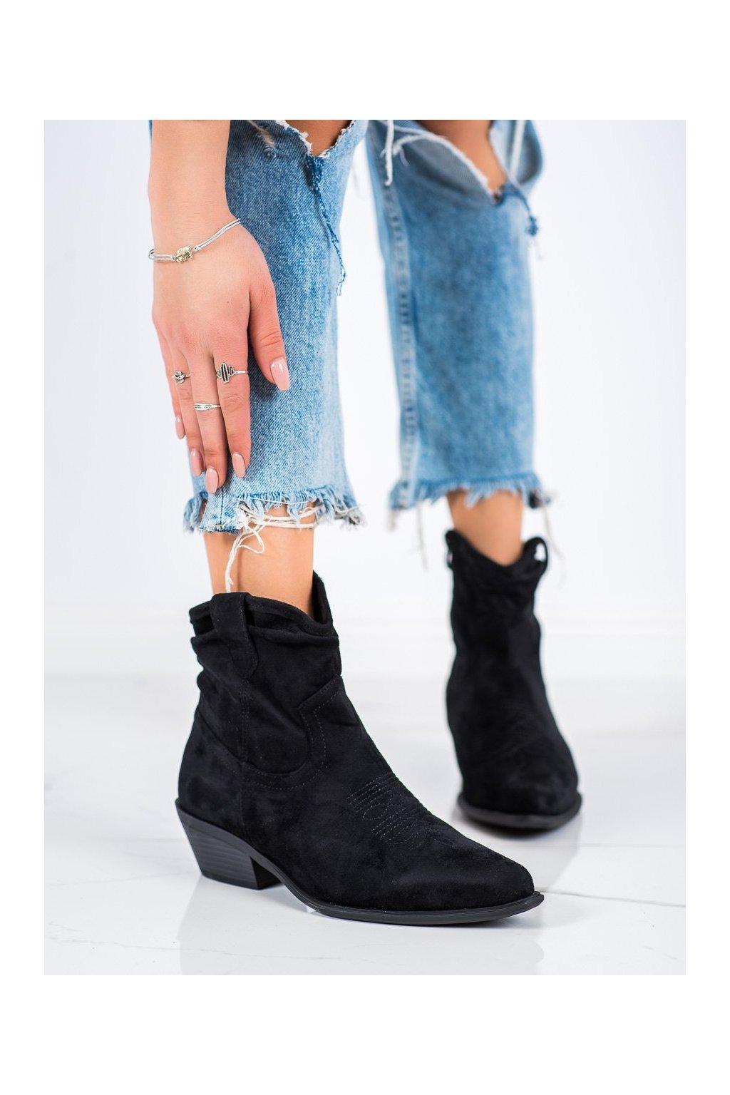 Čierne dámske topánky Cm paris kod 99-65B/B
