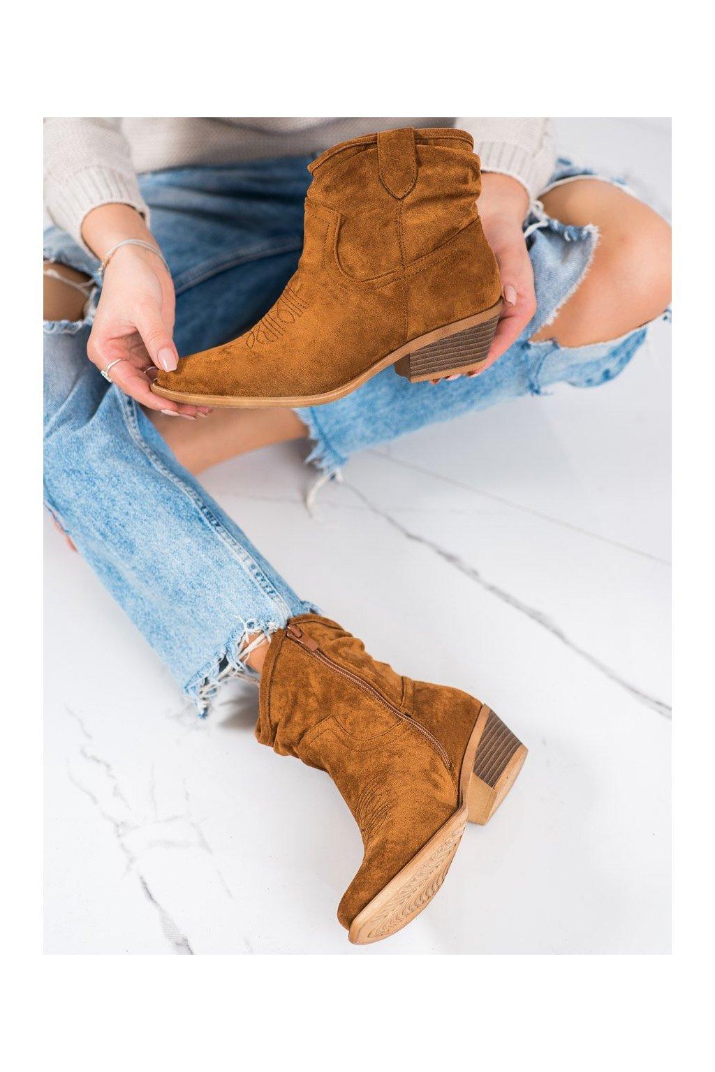 Hnedé dámske topánky Cm paris kod 99-65C/C