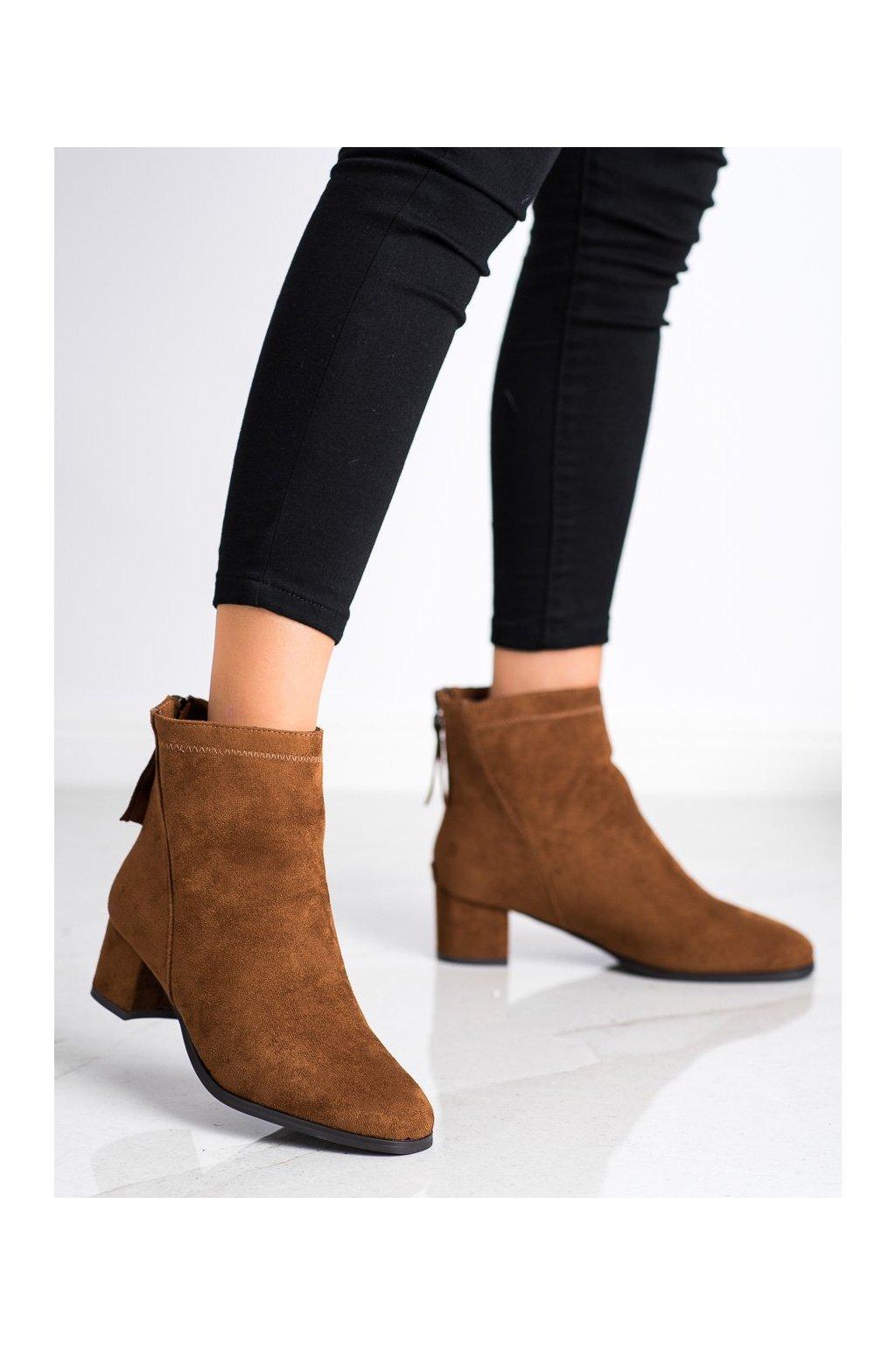 Hnedé dámske topánky Sabatina kod DM20-237C