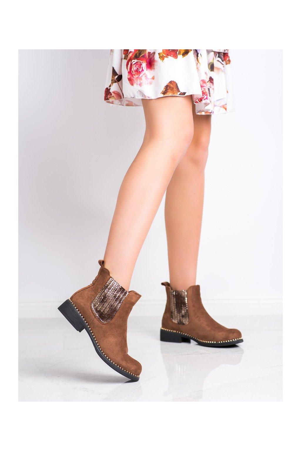 Hnedé dámske topánky Shelovet kod HQ231C