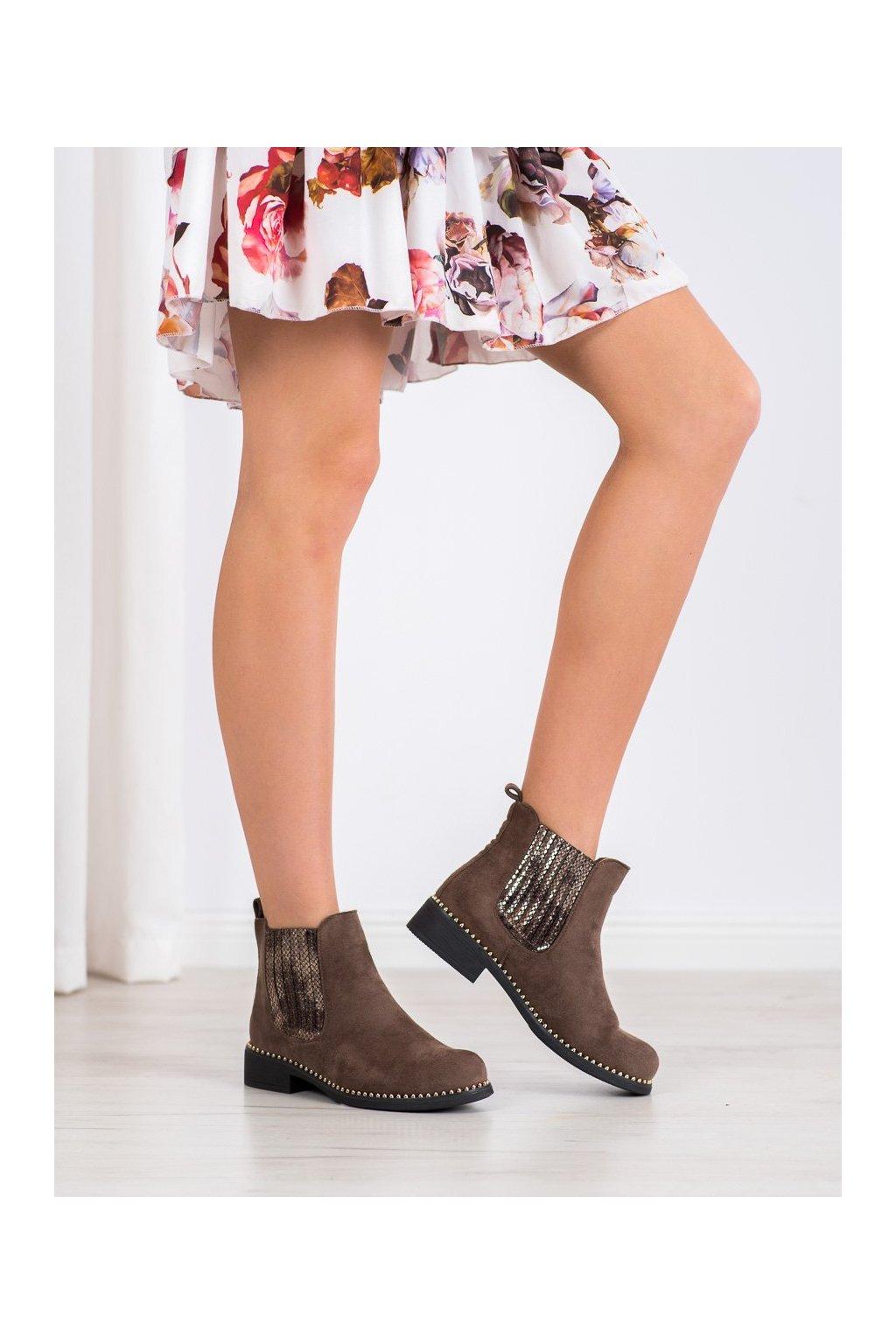 Hnedé dámske topánky Shelovet kod HQ231KH