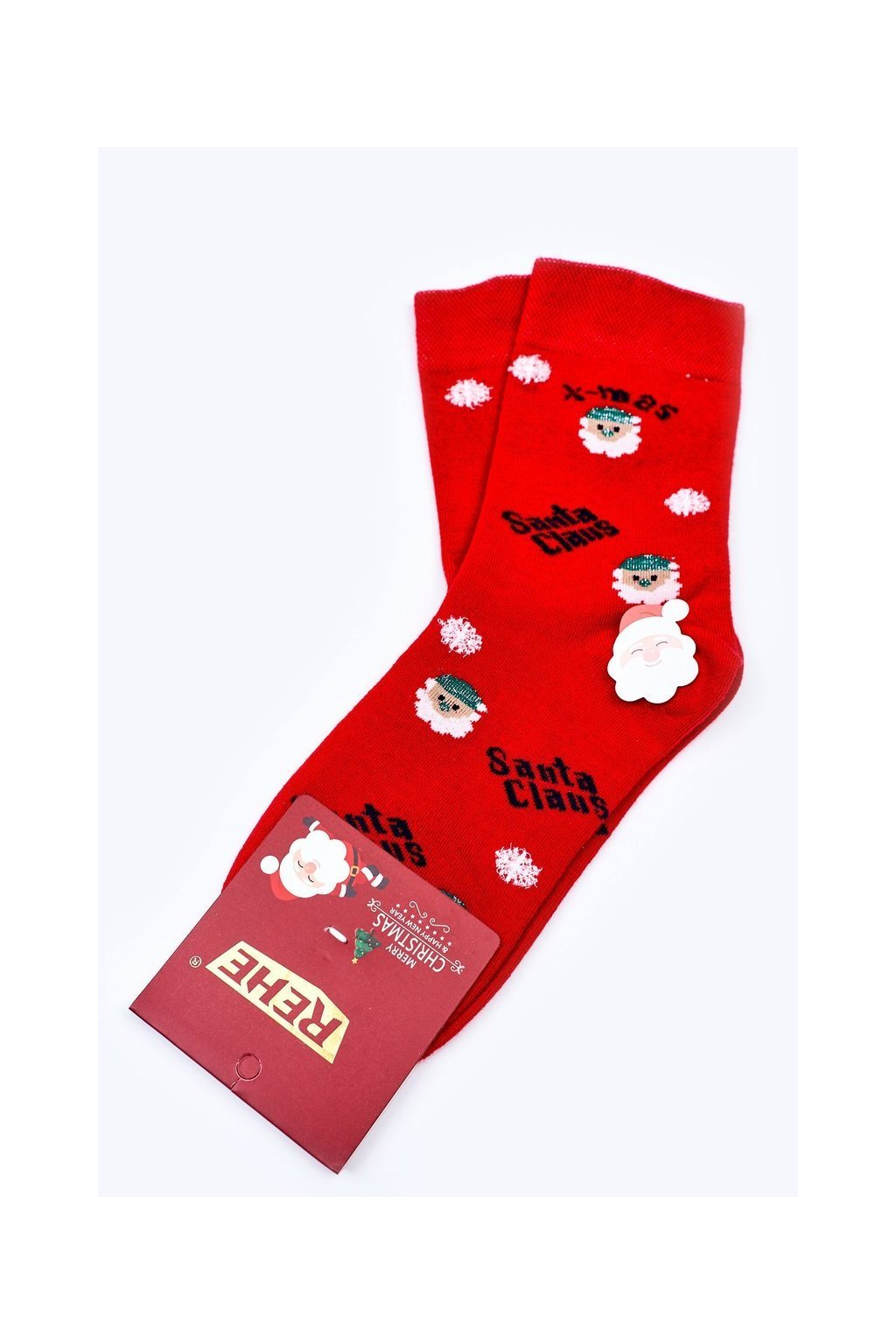 Pánske ponožky farba červená kód HD513 RED CLAUS
