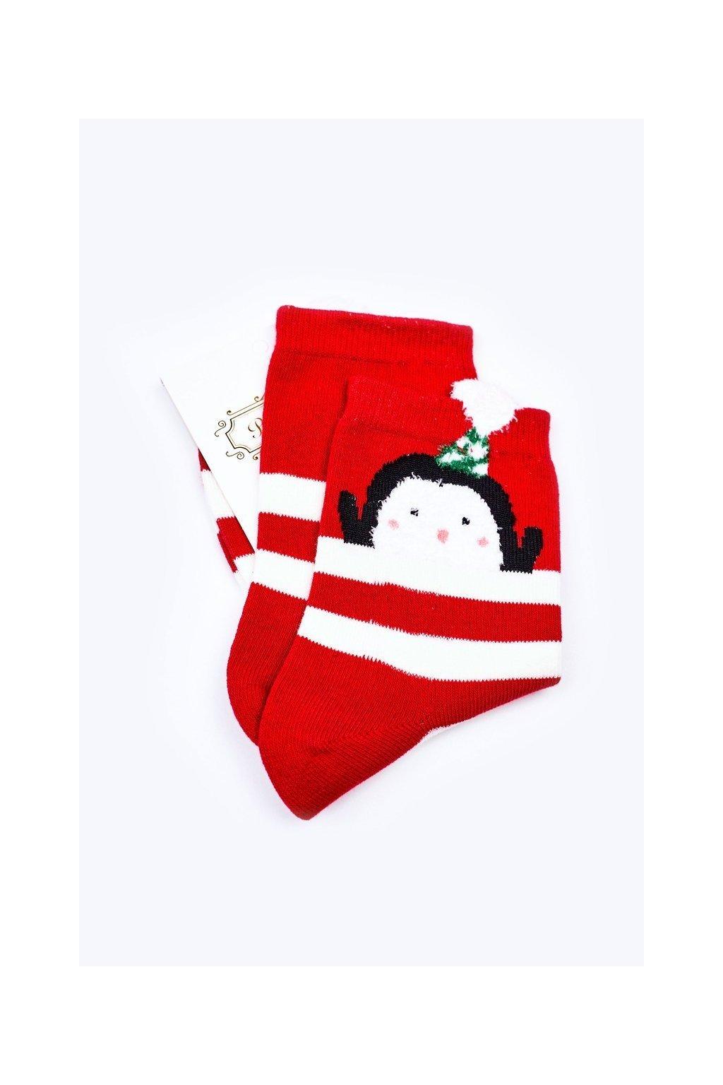 Pánske ponožky farba červená kód WJYC-94059 PASKI