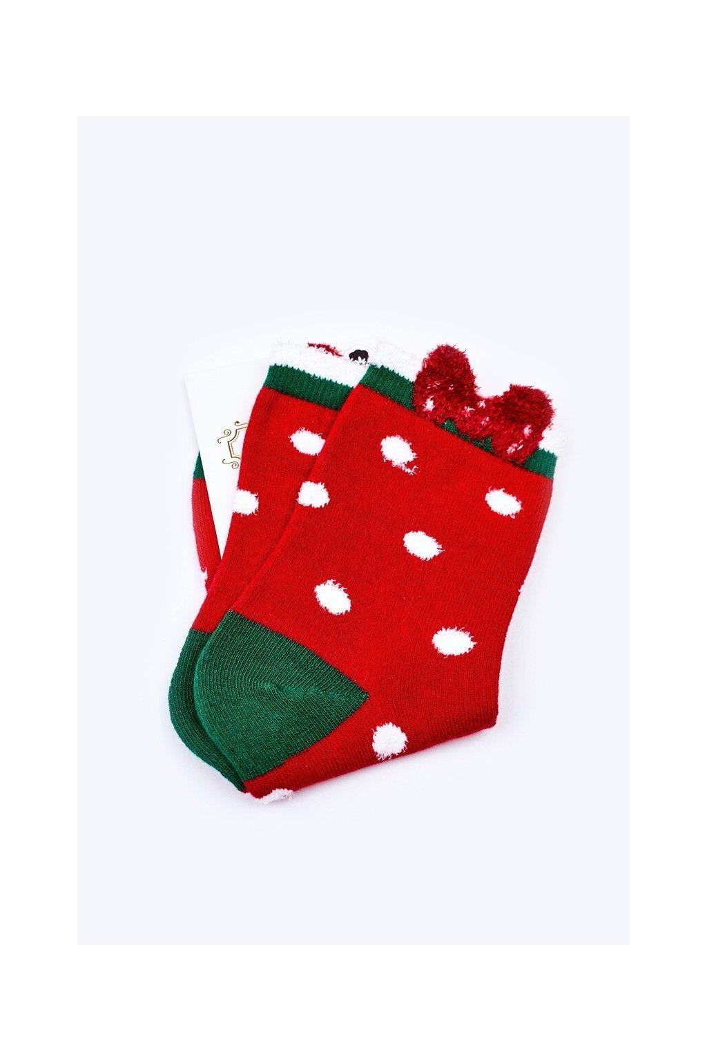 Pánske ponožky farba červená kód WJYC-94059 GROSZKI