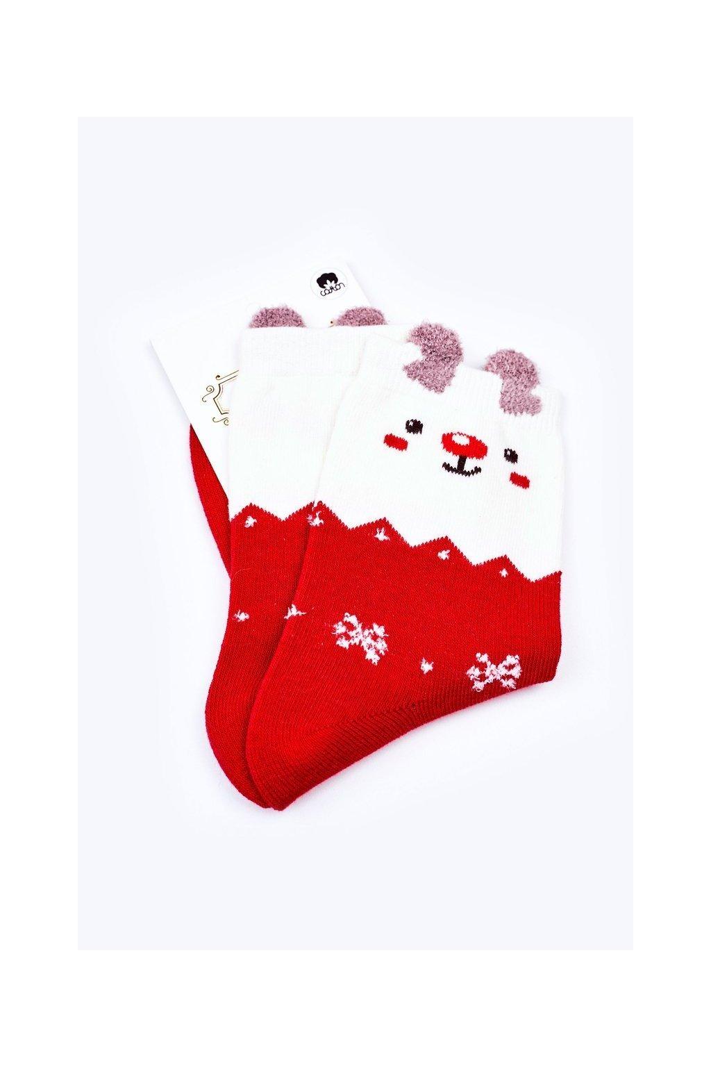 Pánske ponožky farba červená kód WJYC-94059 RENIFER