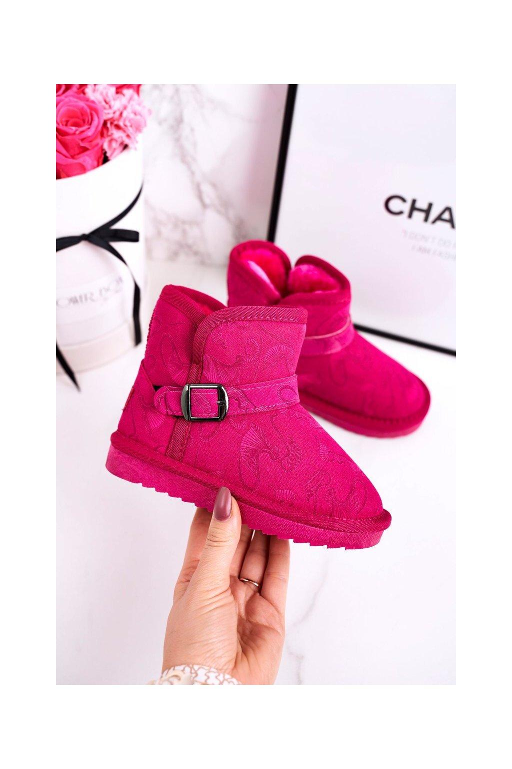 Detské snehule farba ružová kód obuvi N224/N225 FUKSJA