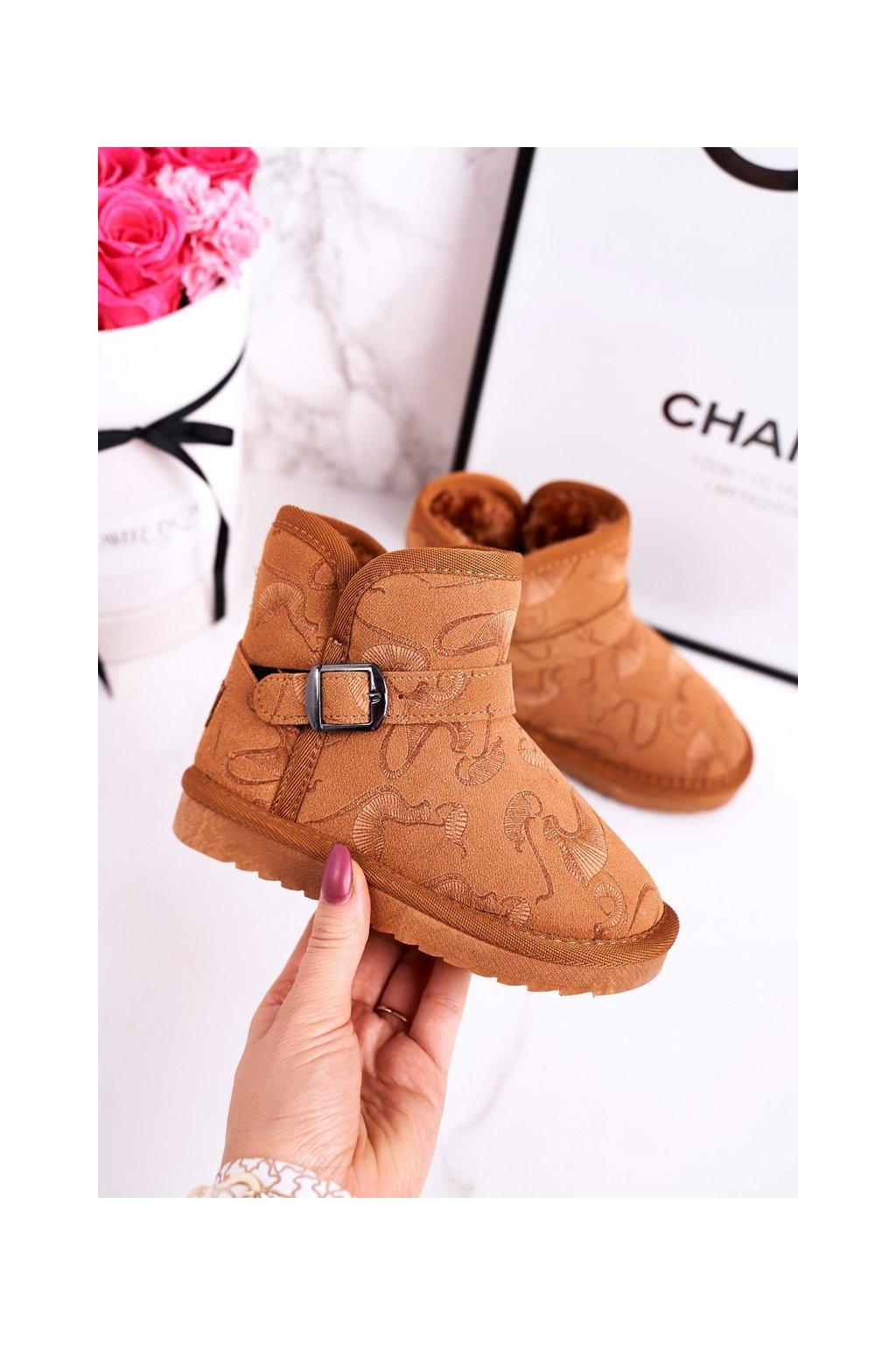Detské snehule farba hnedá kód obuvi N224/N225 CAMEL