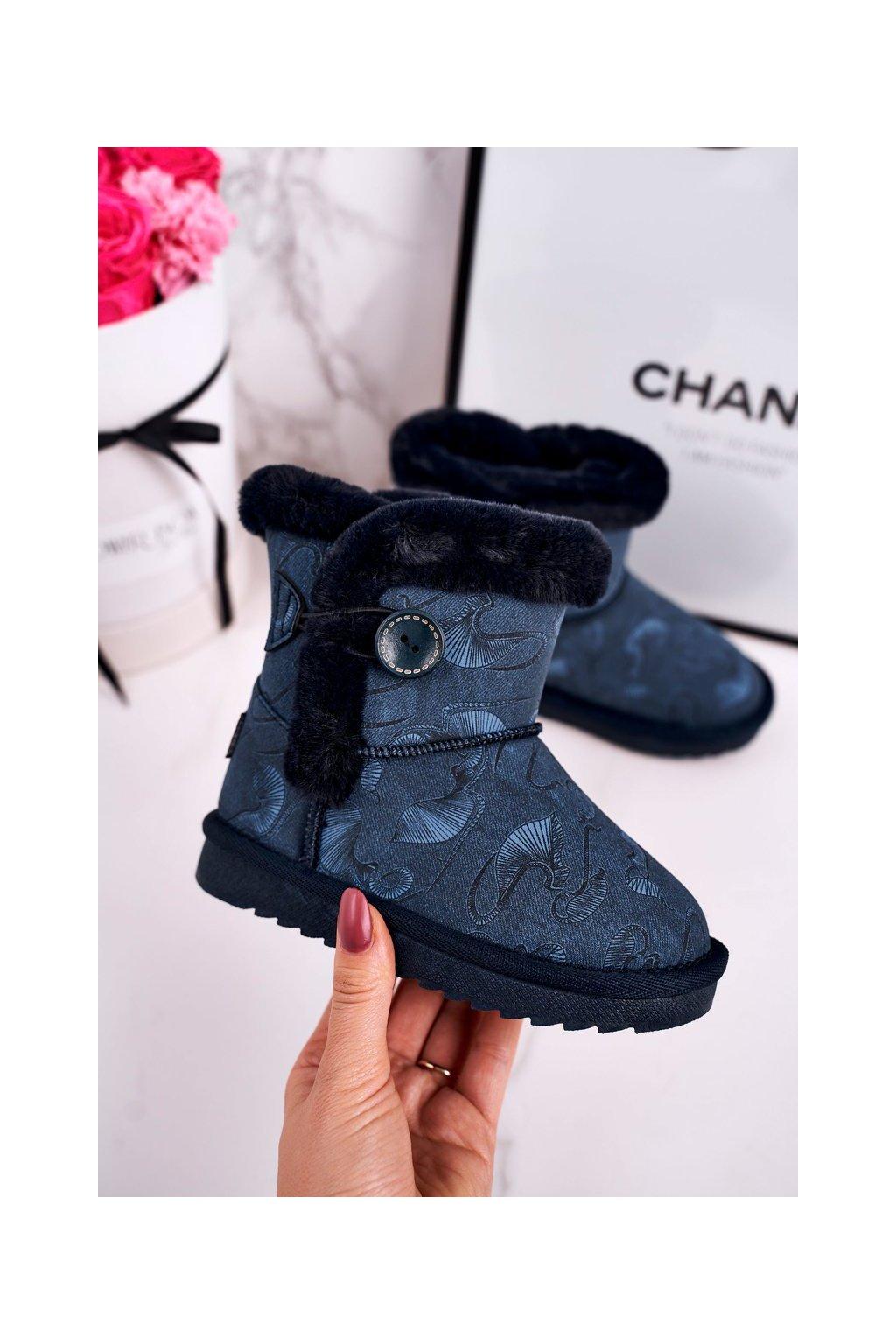 Detské snehule farba modrá kód obuvi N222/N223 NAVY