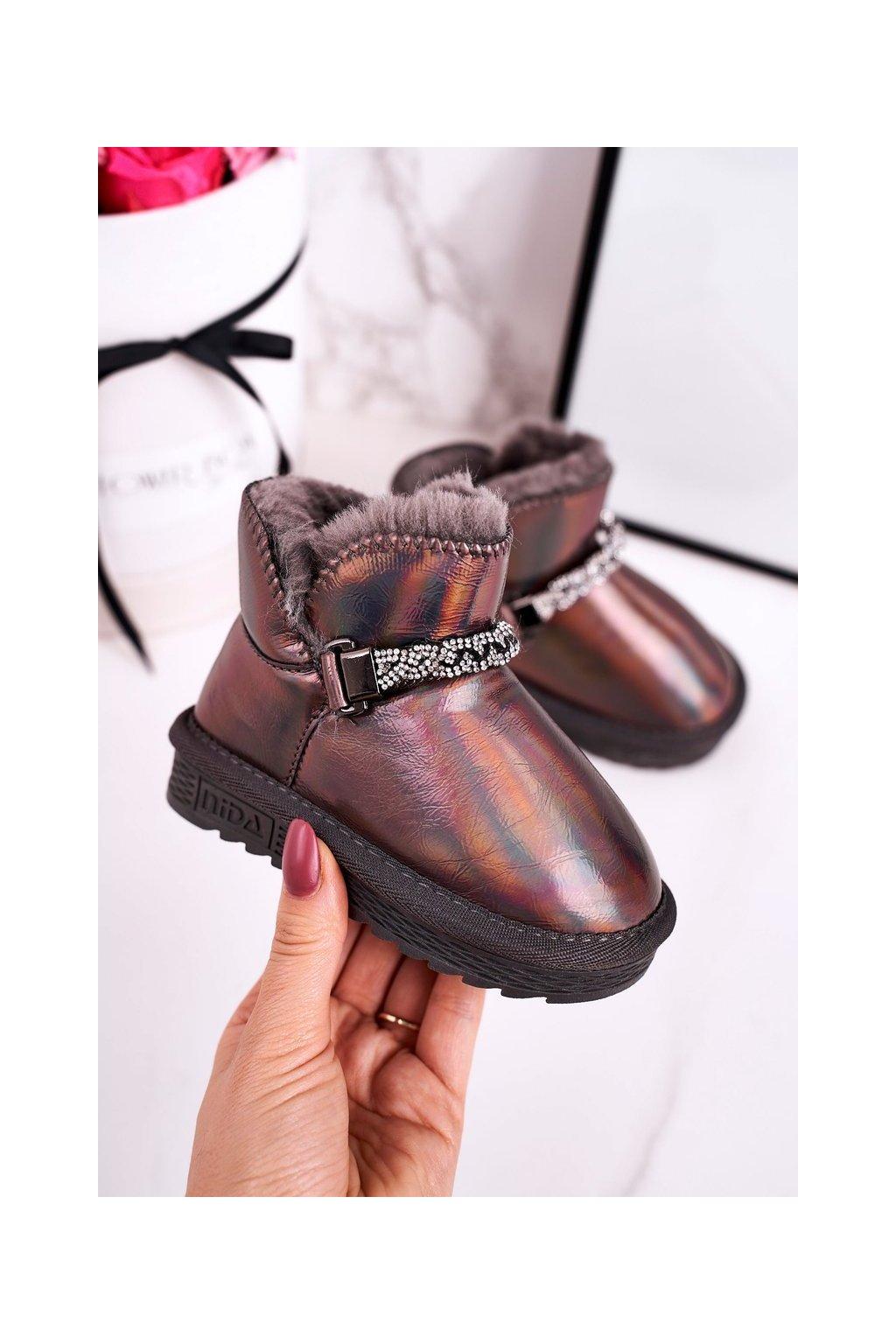 Detské snehule farba sivá kód obuvi ND49/ND50 GREY