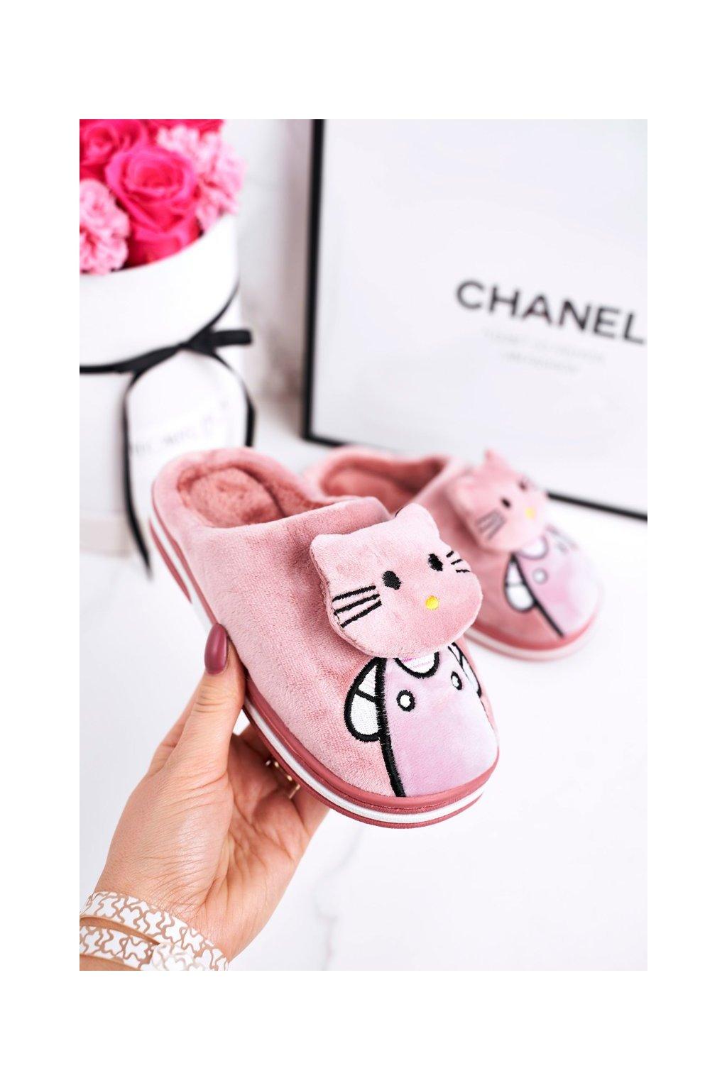Detské šľapky farba ružová kód obuvi WG-220 POWDER PINK