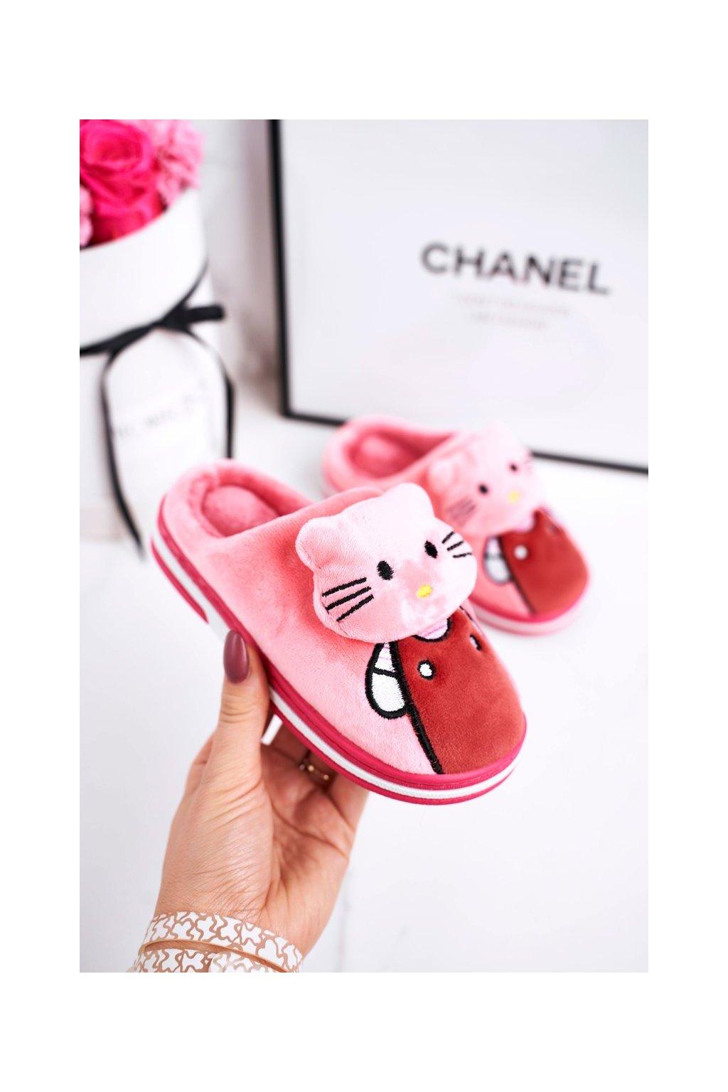 Detské šľapky farba ružová kód obuvi WG-220 BRIGHT PINK