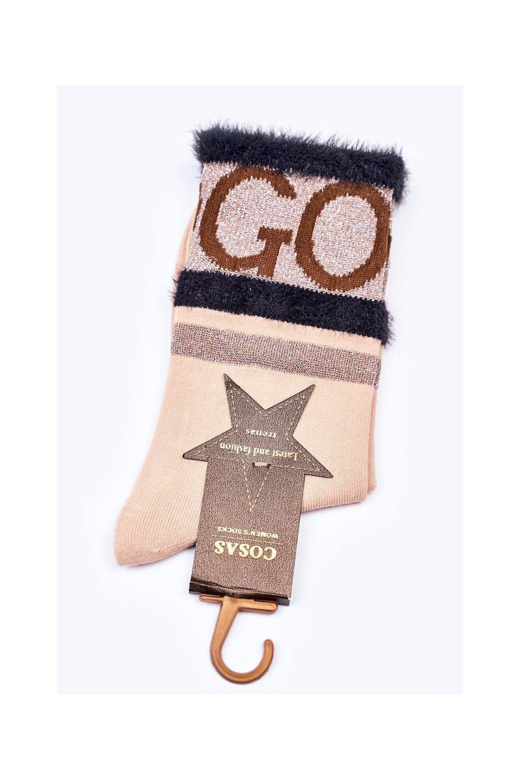 Dámske ponožky farba hnedá kód LM2-10 BEIGE