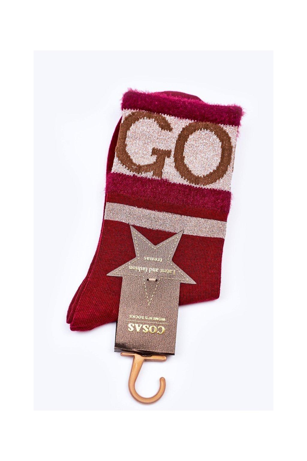 Dámske ponožky farba červená kód LM2-10 RED