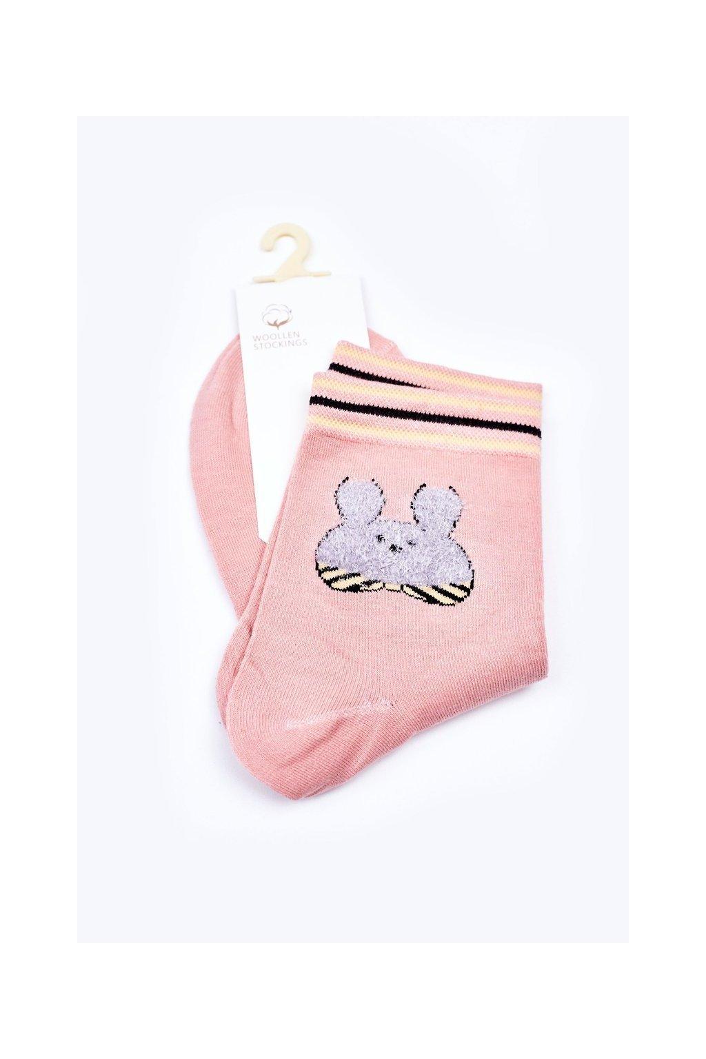 Dámske ponožky farba ružová kód LM13-6 PINK