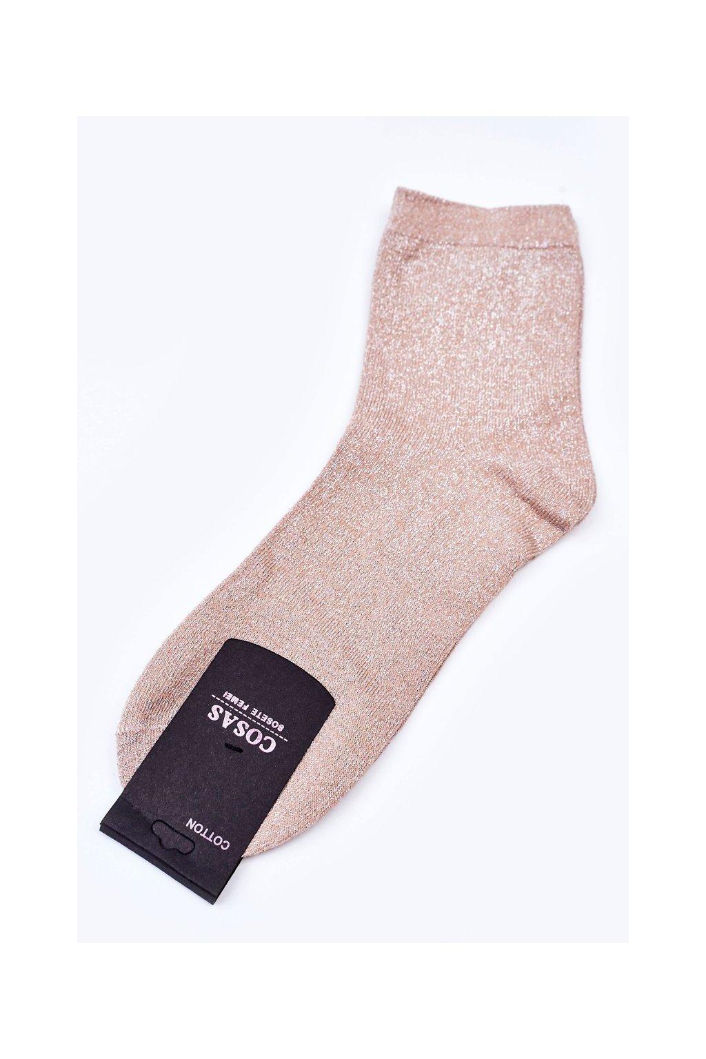 Dámske ponožky farba hnedá kód DMP308 BEIGE