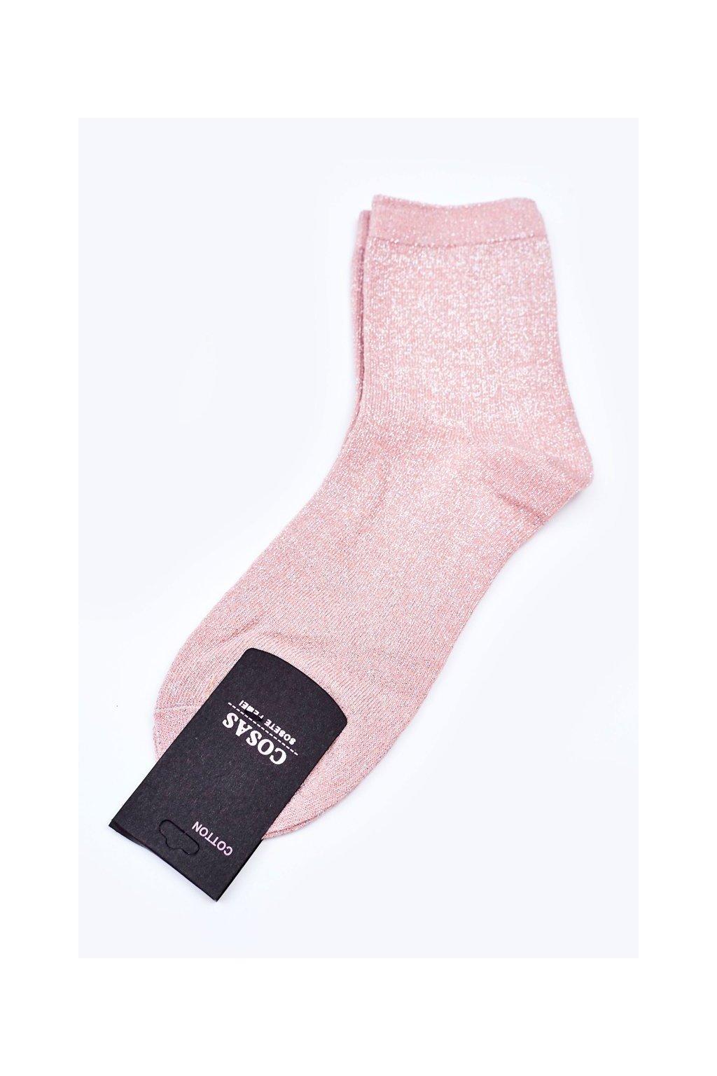 Dámske ponožky farba ružová kód DMP308 SALMON