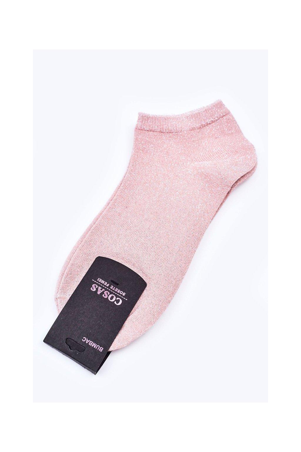 Dámske ponožky farba ružová kód DM-307S SALMON