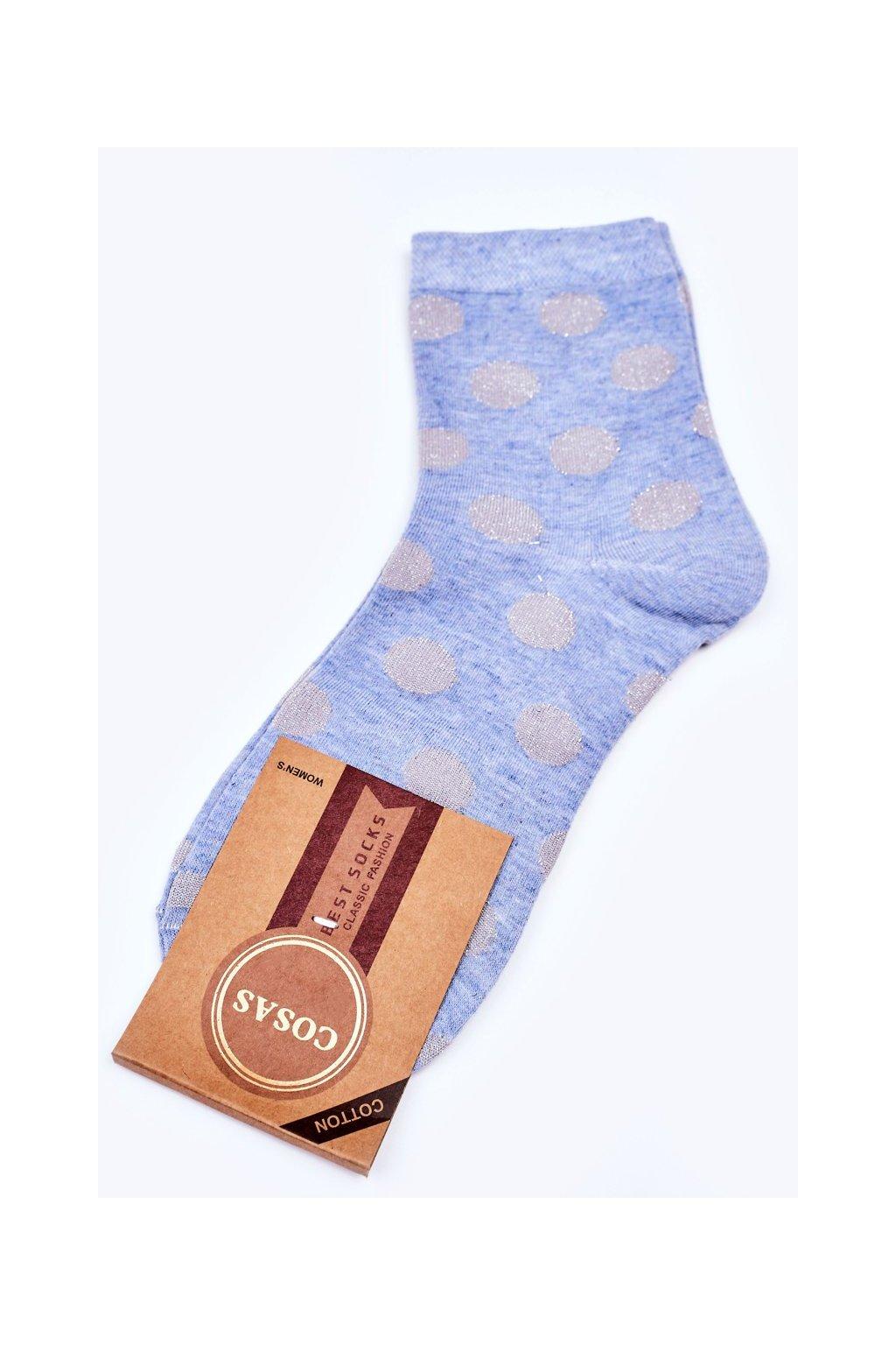 Dámske ponožky farba modrá kód DMP316 BLUE
