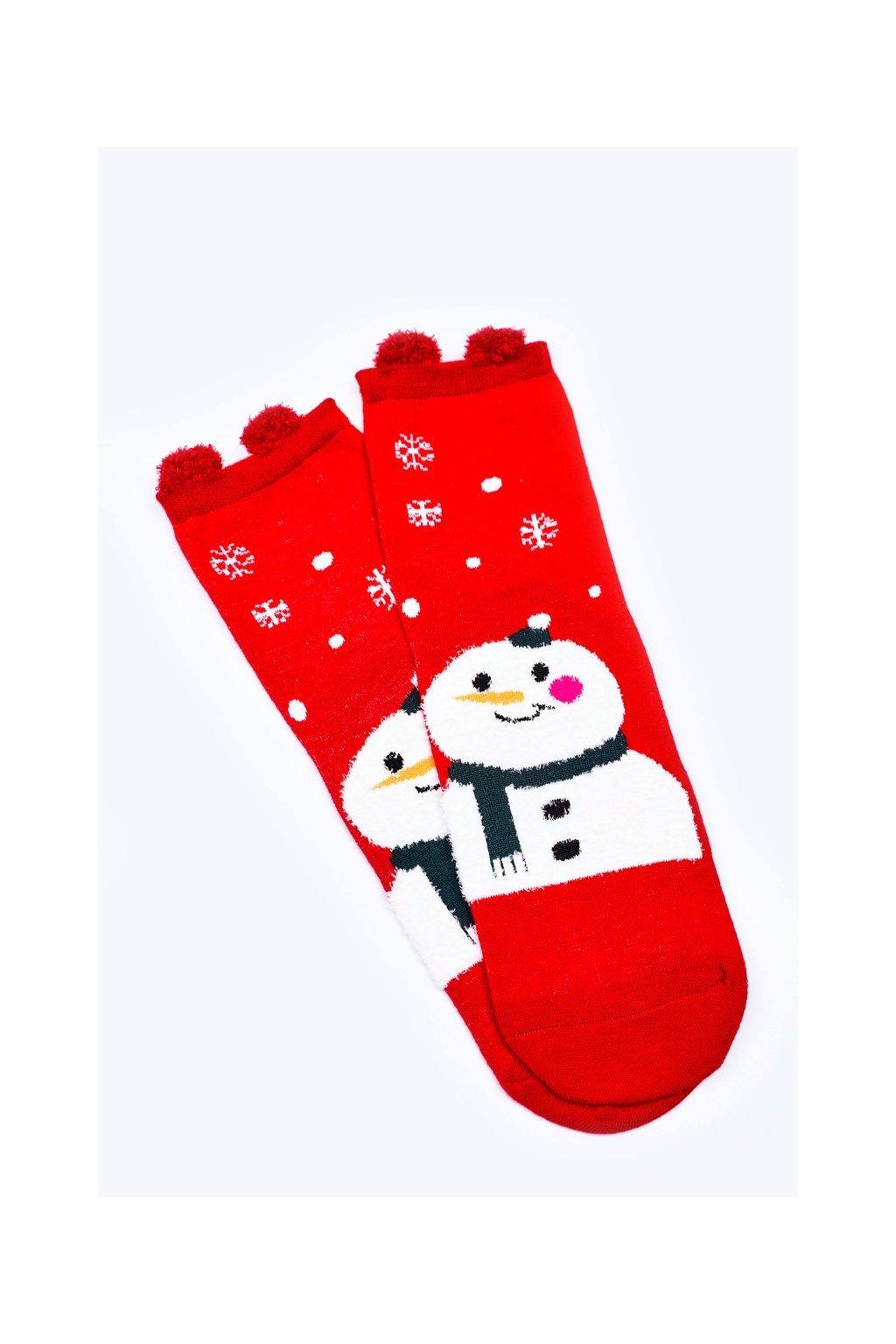 Dámske ponožky farba červená kód DM500 BAŁWAN