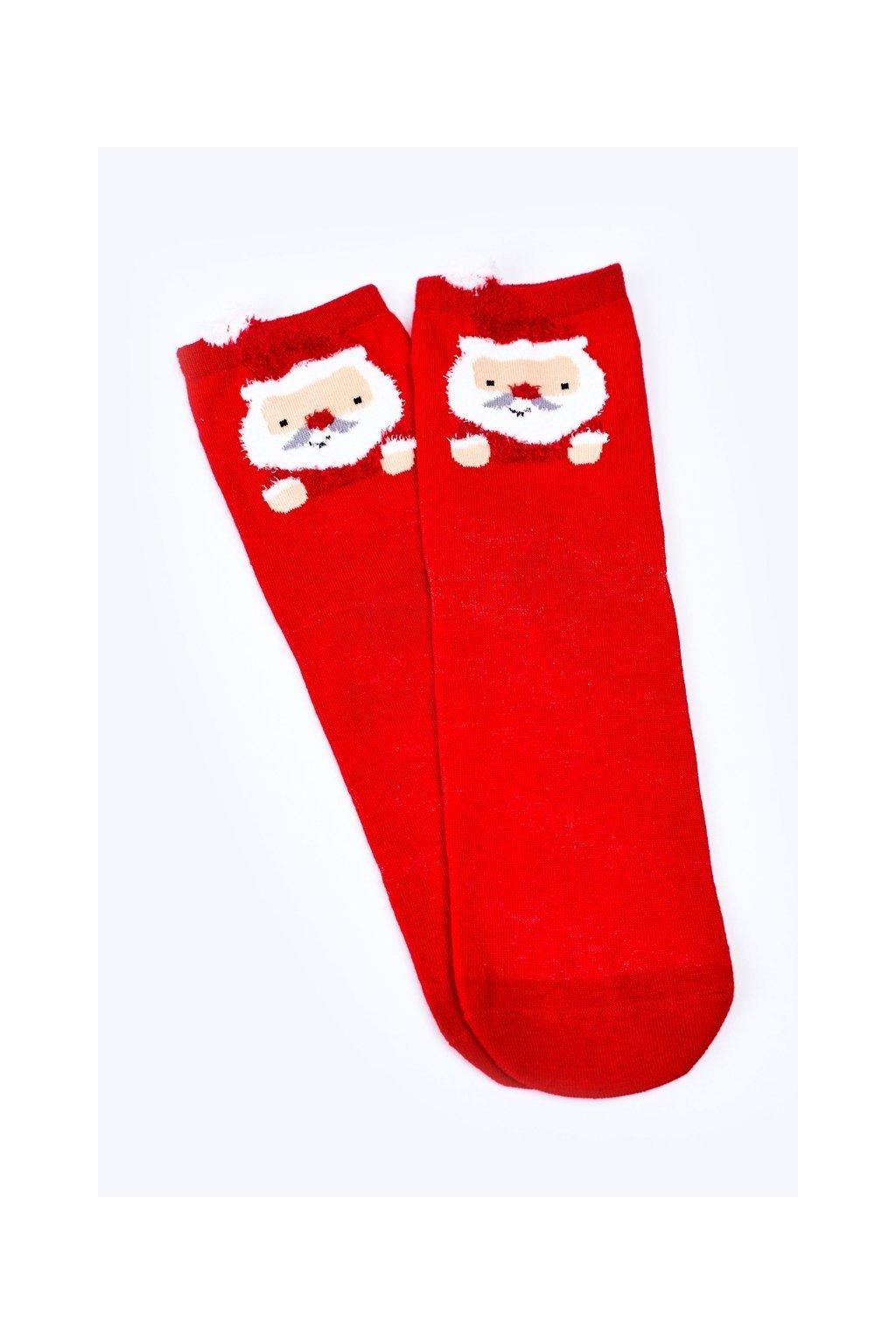 Dámske ponožky farba červená kód DM500 MIKOŁAJ CZERWONY