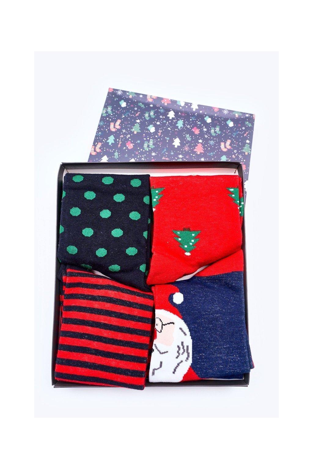 Pánske ponožky farba modrá kód DB601-1 NAVY BOX