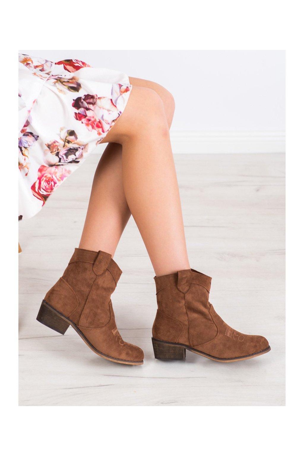 Hnedé dámske topánky Queentina kod BY1602C