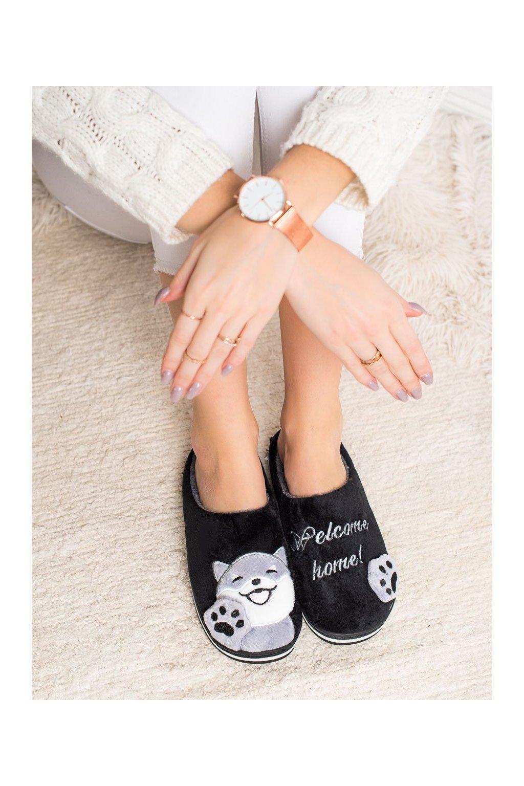 Čierne dámska obuv na doma Bona kod WG-209B
