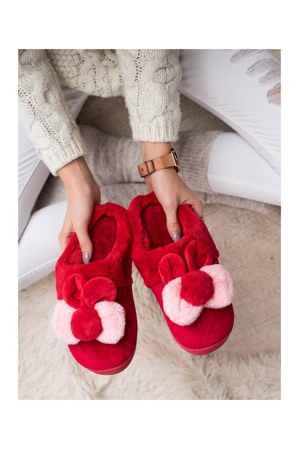 Červené dámska obuv na doma Bona kod FX-32R