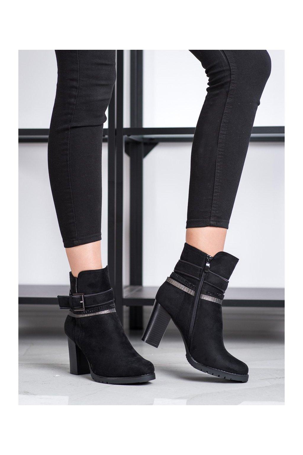 Čierne dámske topánky Queentina kod BH126B