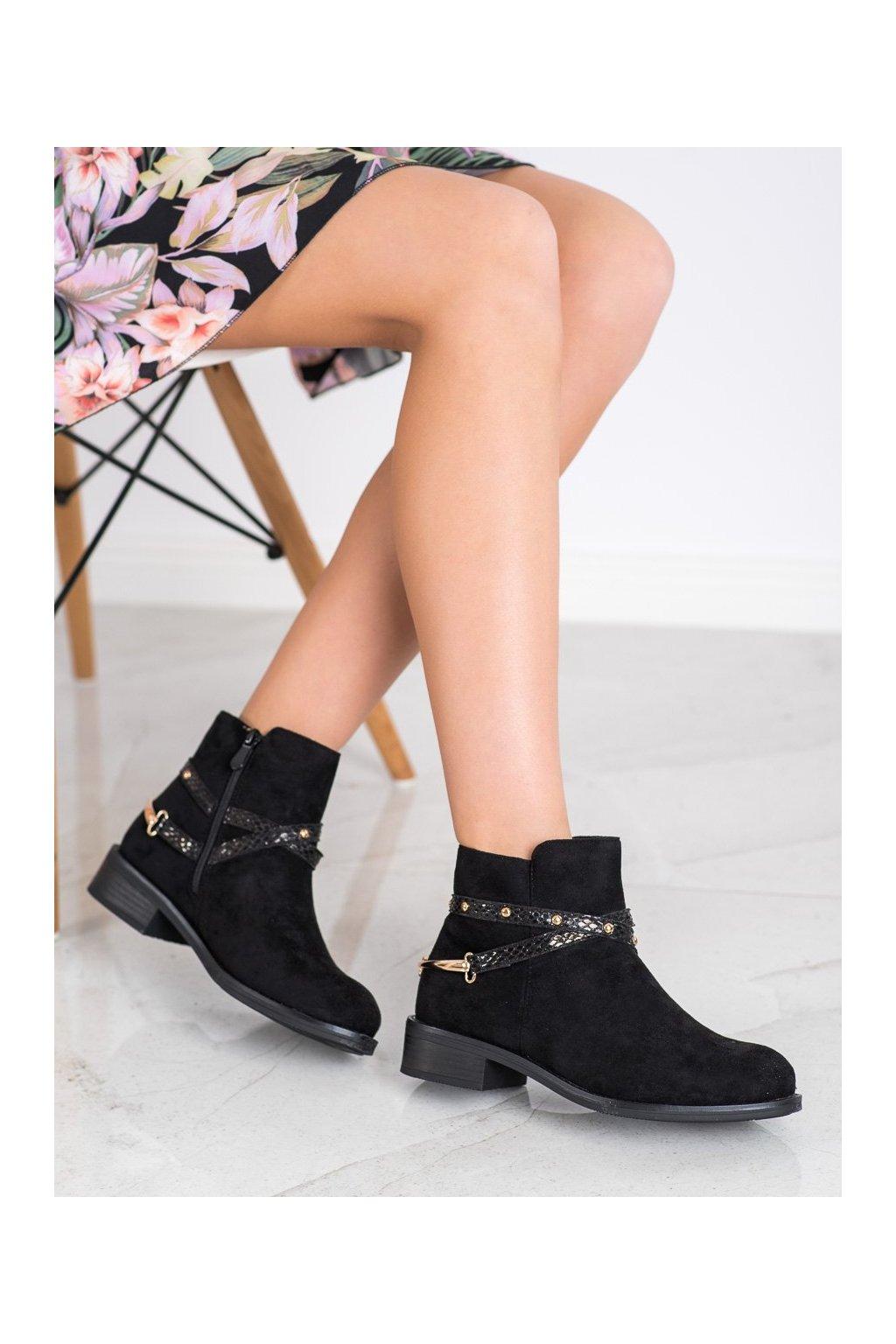 Čierne dámske topánky Bestelle kod RQ332B
