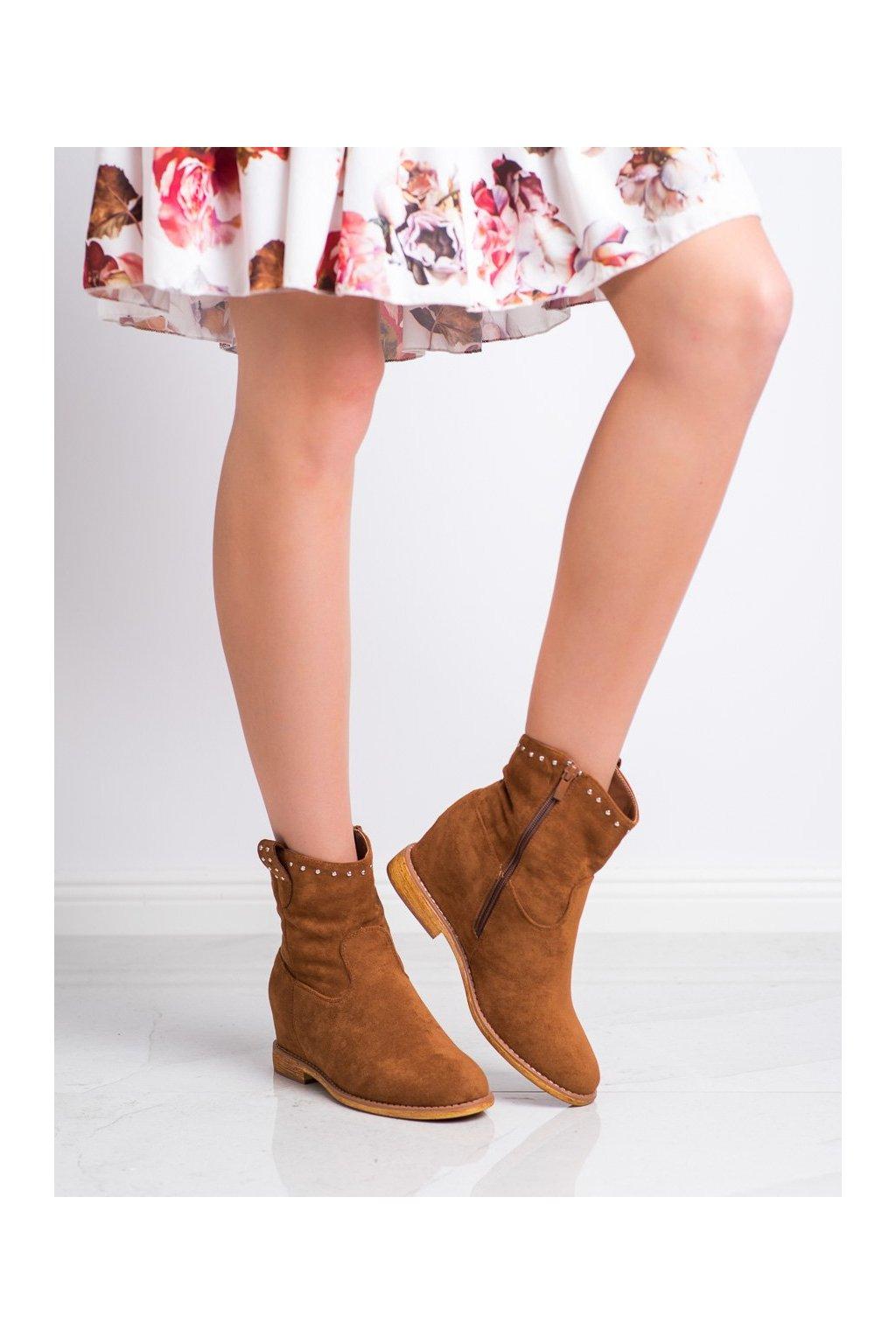 Hnedé dámske topánky Super mode kod ZT1015C
