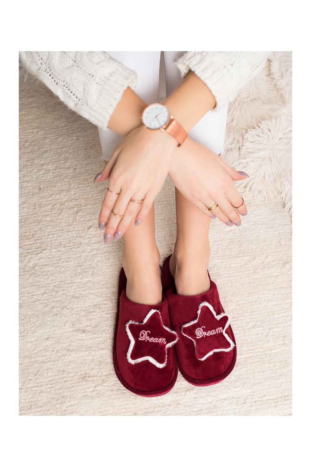 Červené dámska obuv na doma Bona kod CJ-1R