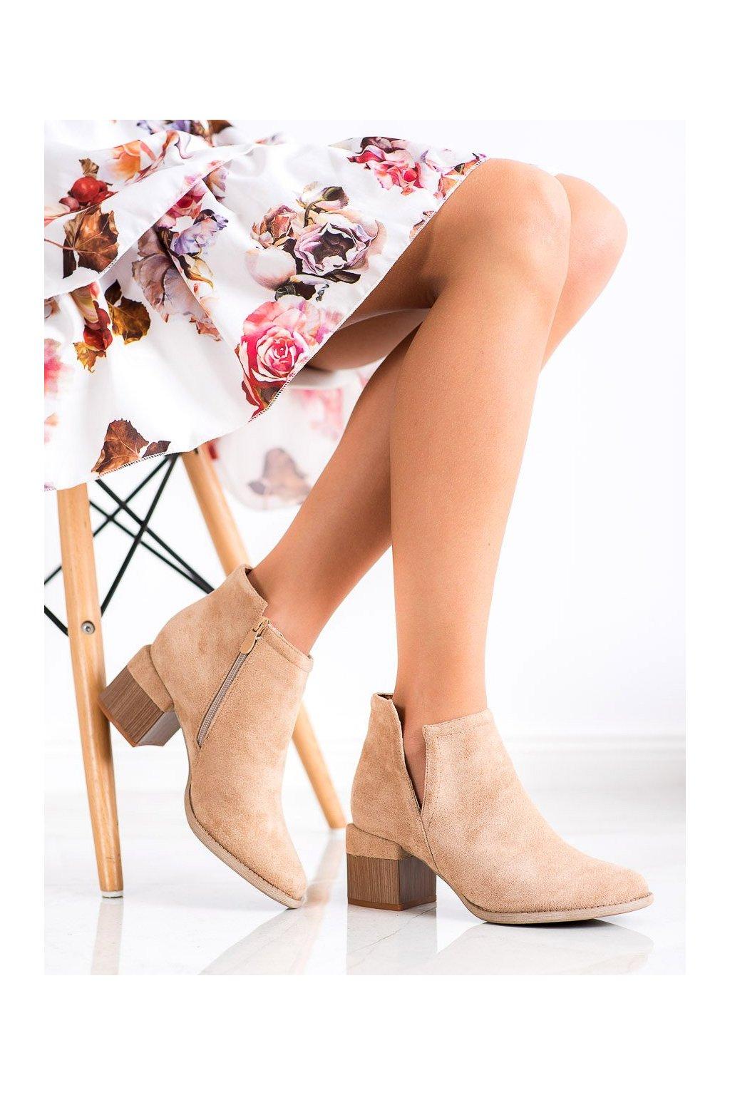 Hnedé dámske topánky Bella paris kod A6103KH