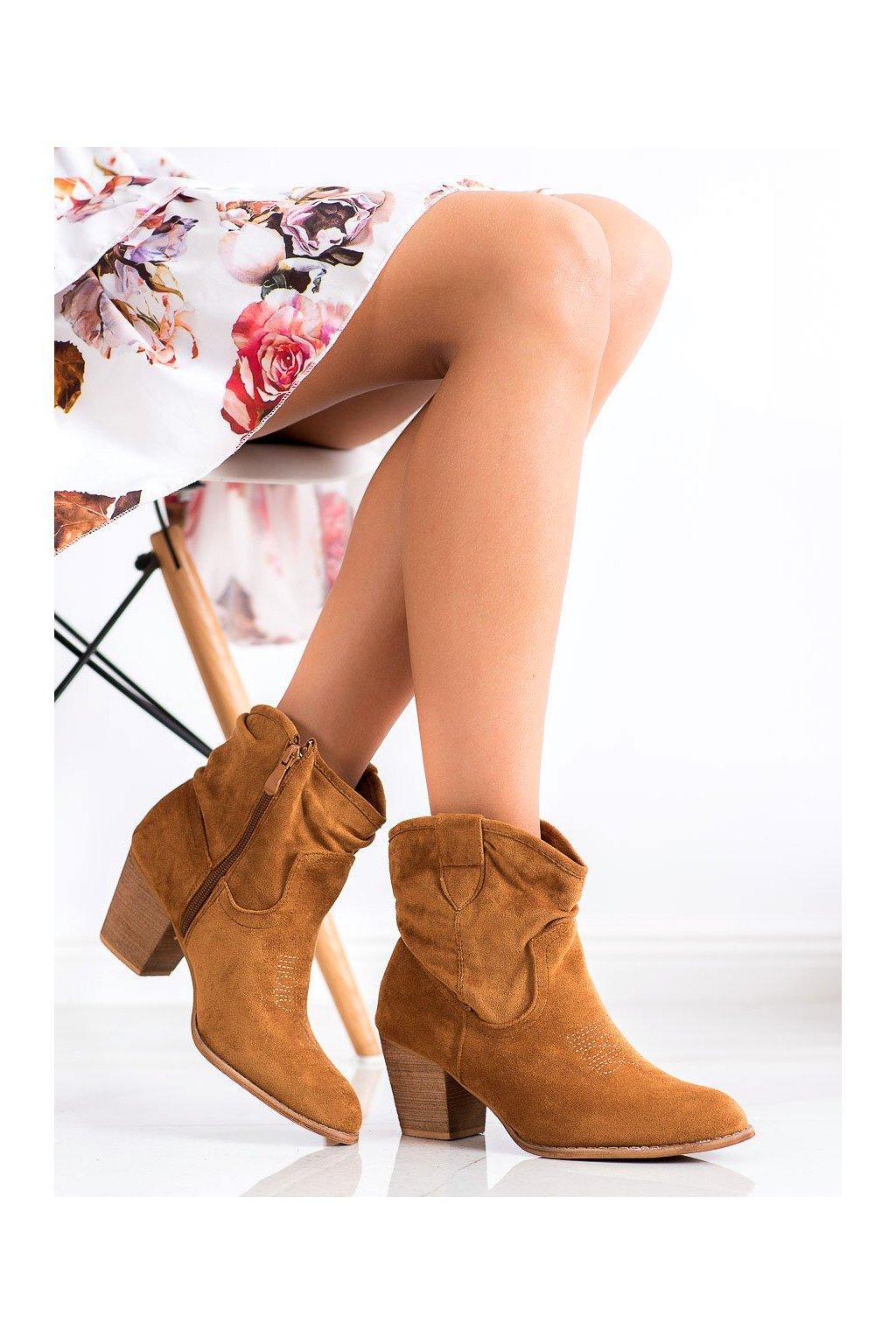 Hnedé dámske topánky Ideal shoes kod SA-3339C