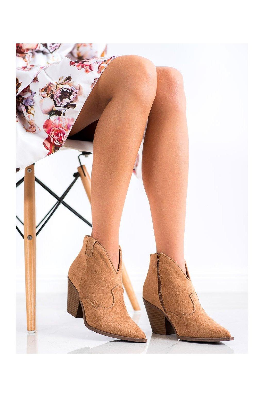 Hnedé dámske topánky Sweet shoes kod D7626KH