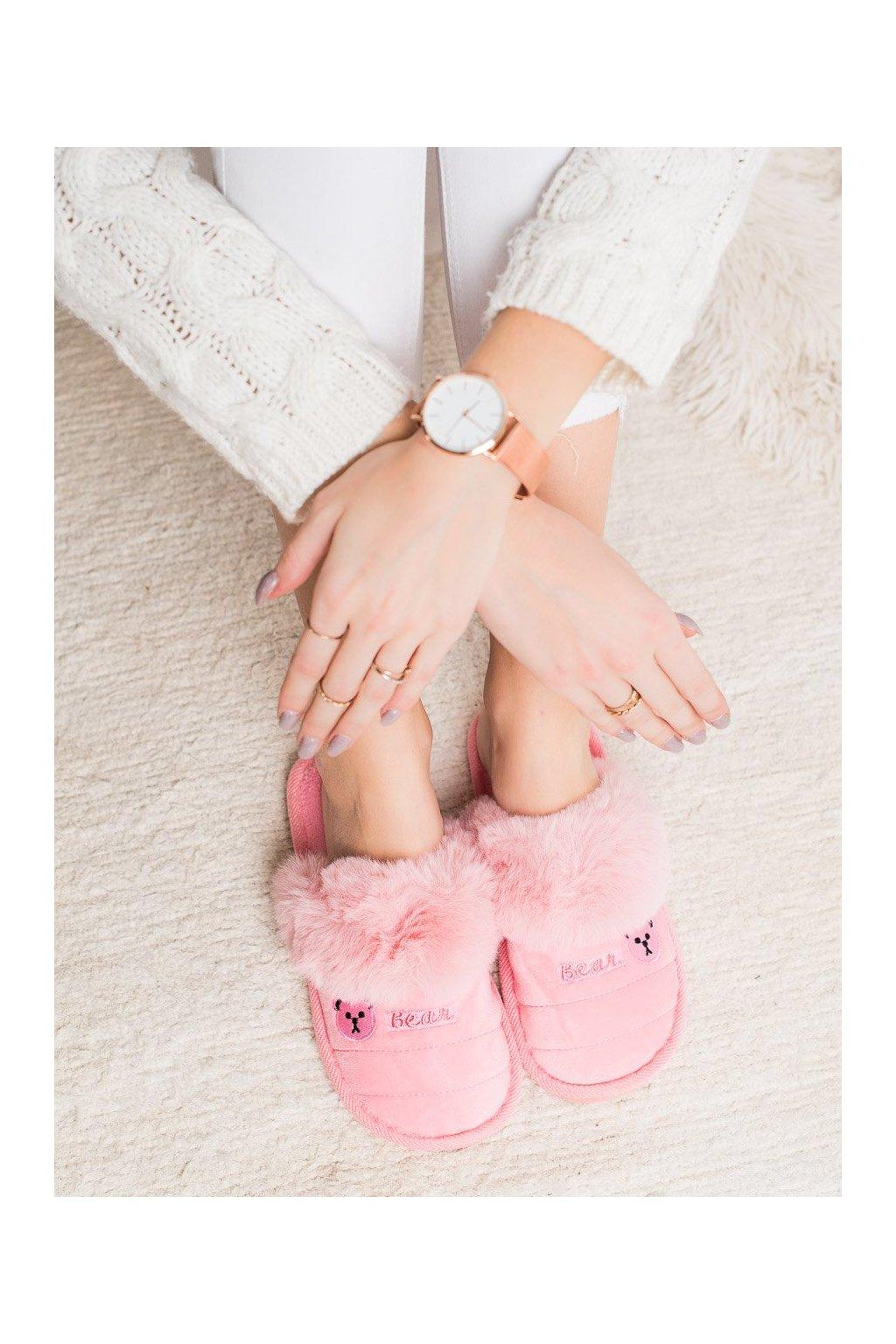 Ružové dámska obuv na doma Bona kod CJ-7P