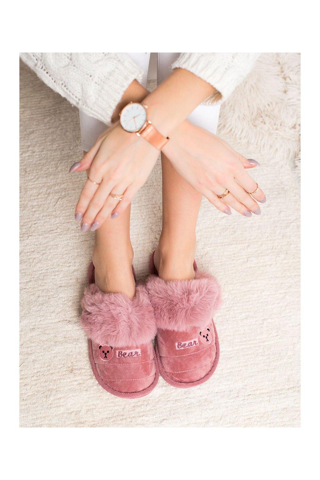 Ružové dámska obuv na doma Bona kod CJ-7PU