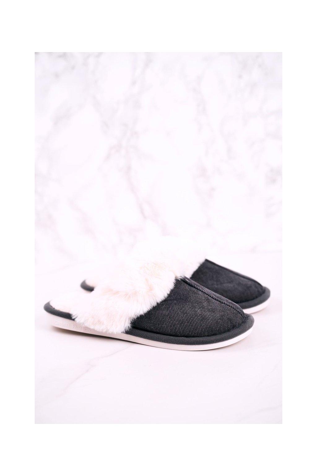 Pánske šľapky farba sivá kód obuvi E110 DARK GREY