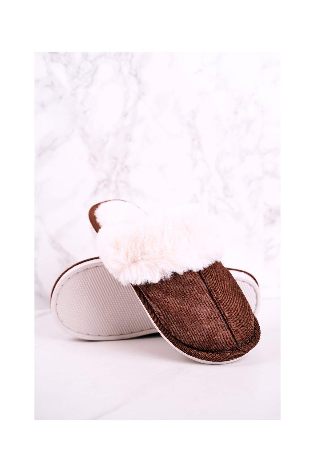 Pánske šľapky farba hnedá kód obuvi E110 BROWN