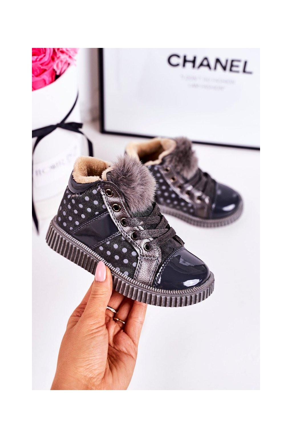Detské tenisky farba sivá kód obuvi A2934 GREY