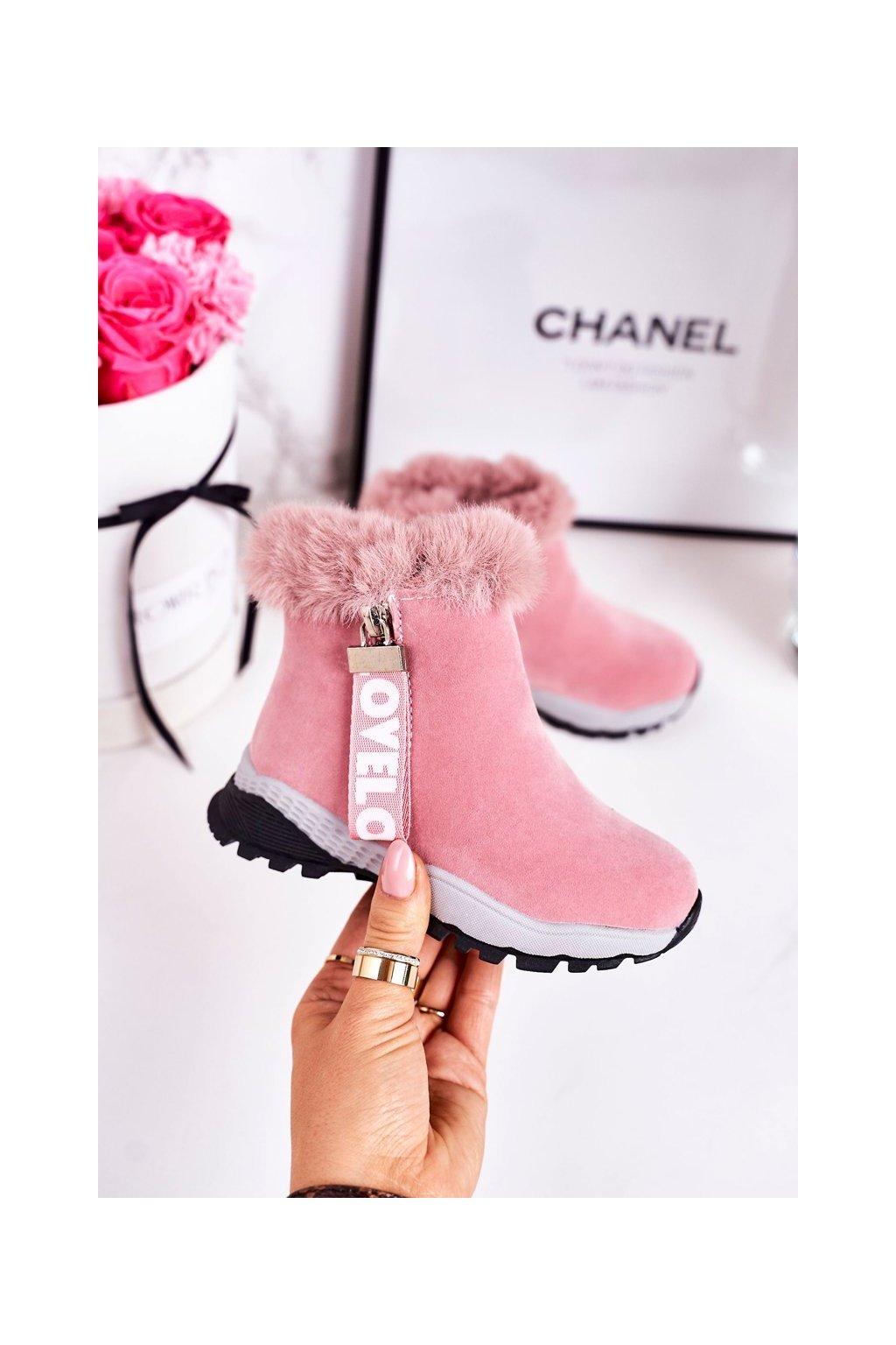 Detské členkové topánky farba ružová kód obuvi A2063 PINK