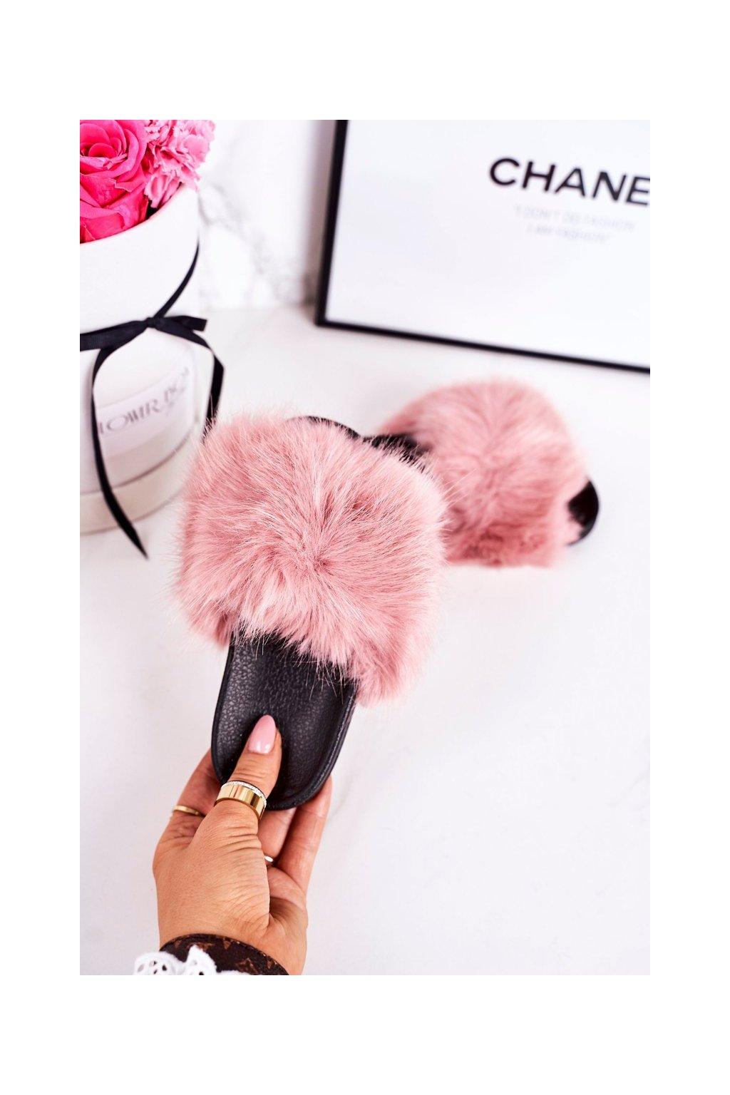 Detské šľapky farba ružová kód obuvi CK162P PINK