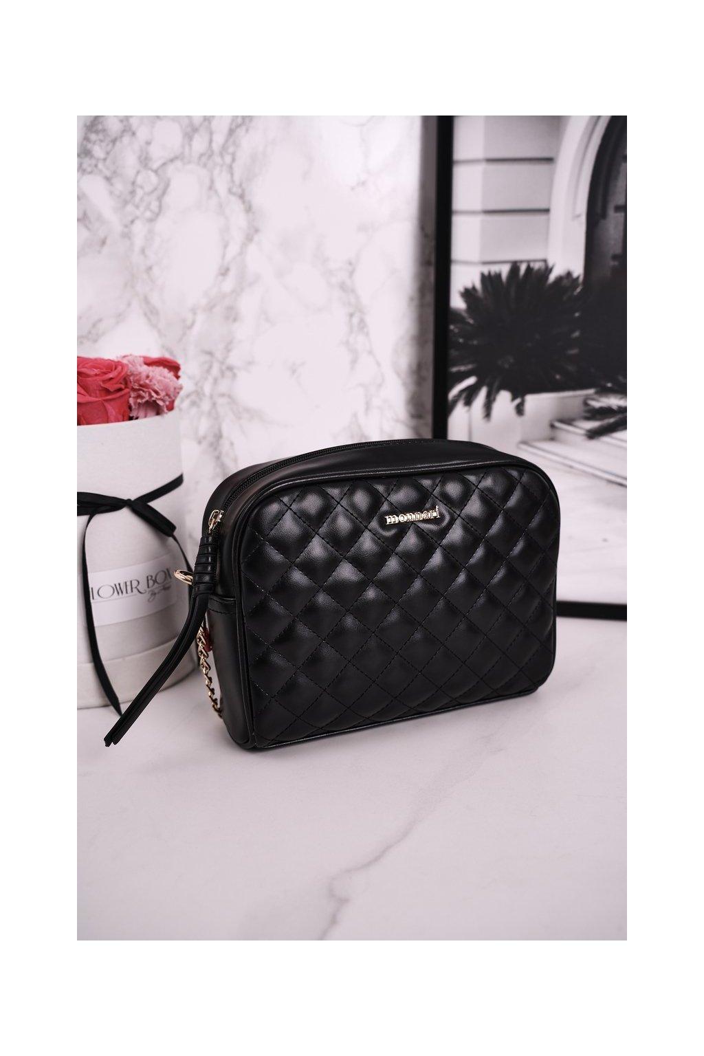 Dámska listová kabelka čierna kód kabelky BAG0200-M20
