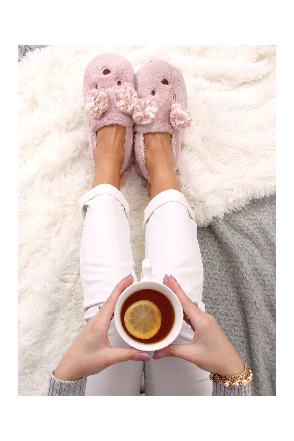 Damske ponožky ružové DN2124