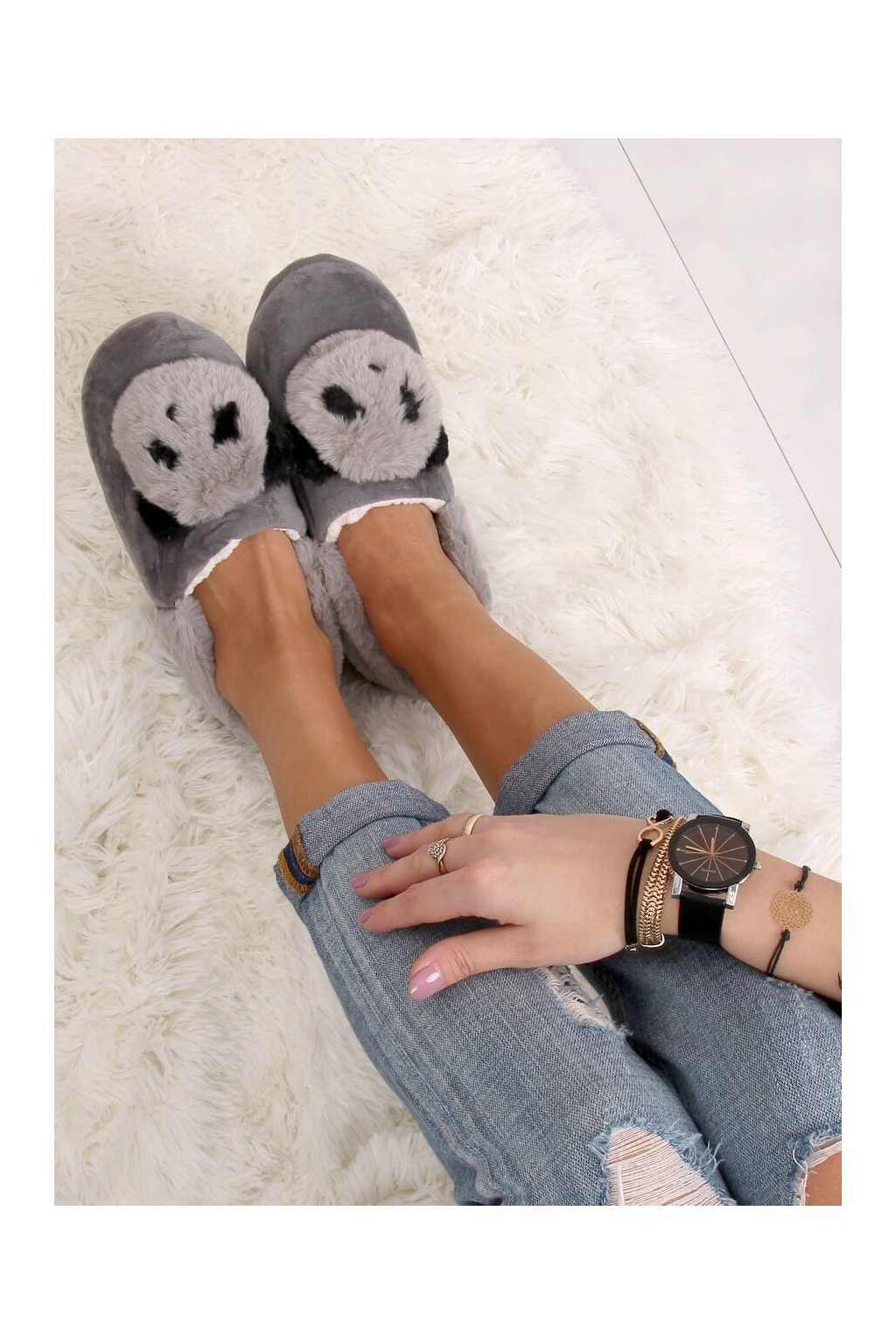 Damske ponožky sivé DN2123